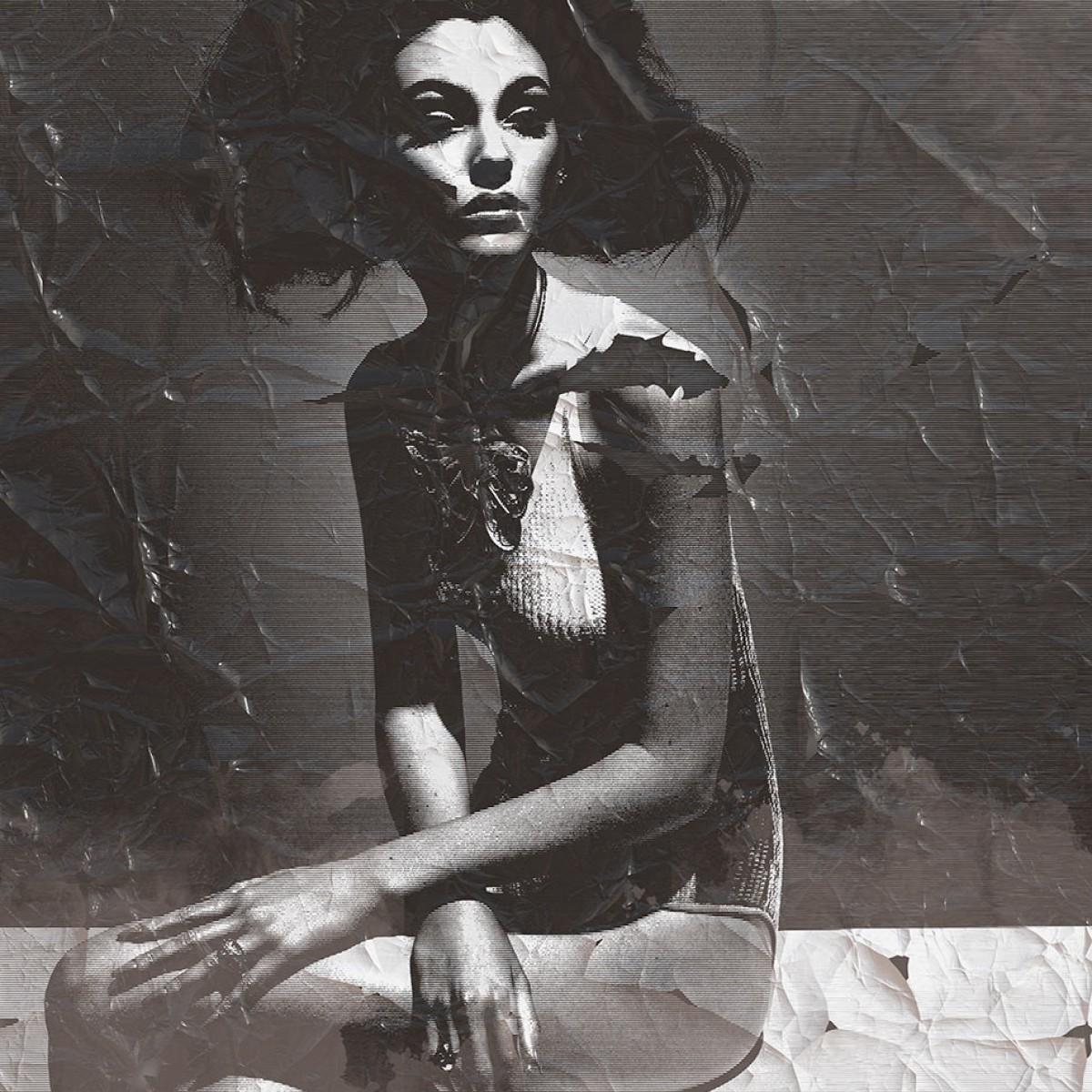 Fototapet contemporan Elle, personalizat, idea murale