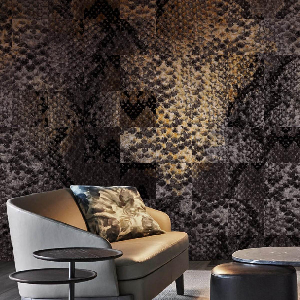 Fototapet contemporan Python Lounge, personalizat, idea murale