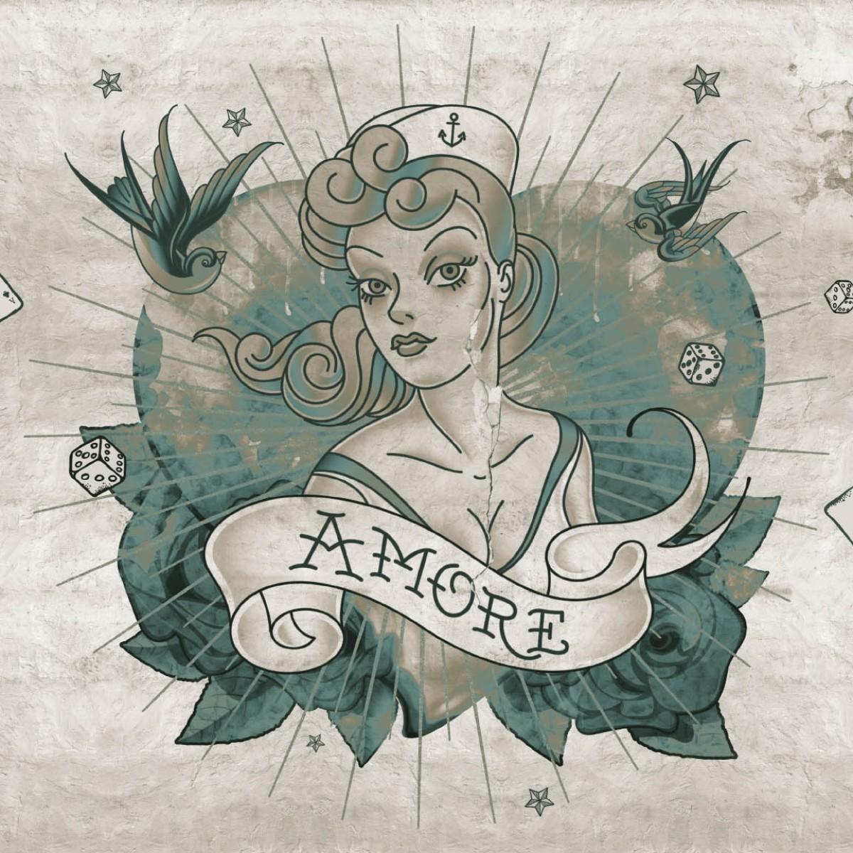 Fototapet contemporan Amore, personalizat, idea murale