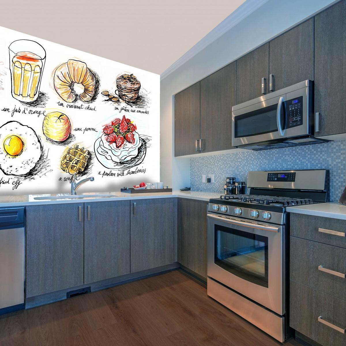 Fototapet Breakfast 2 D192, personalizat, InCreation