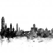 Fototapet Albany New York Peisaj Negru, personalizat, Photowall