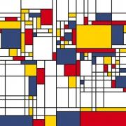 Fototapet Piet Mondrian  Harta Lumii, personalizat, Photowall