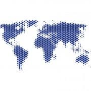 Fototapet Harta Lumii Metal  - albastru, personalizat, Photowall