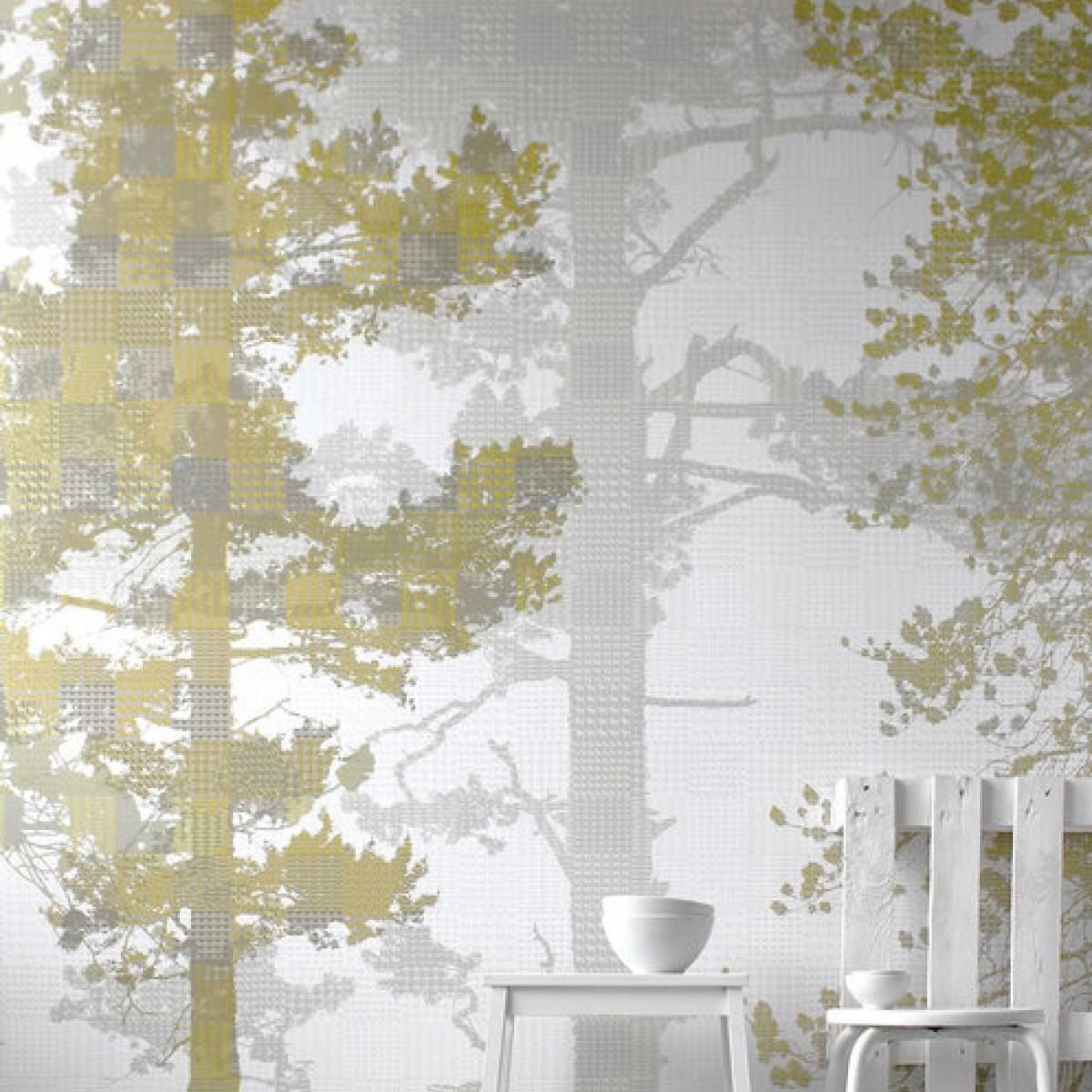 Fototapet Weaving Wood Ochre, personalizat, Photowall
