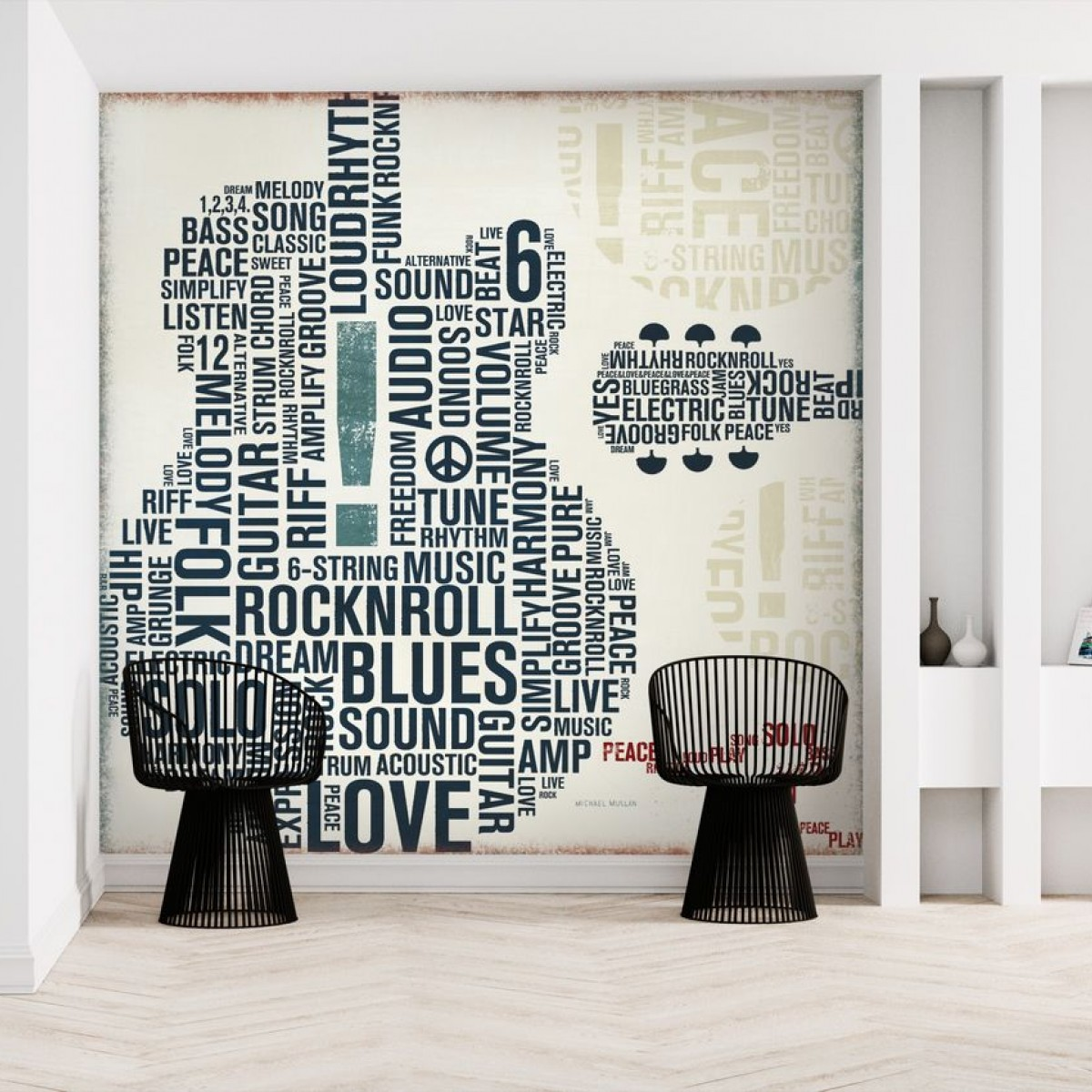 Fototapet Type Guitar Square II, personalizat, Photowall