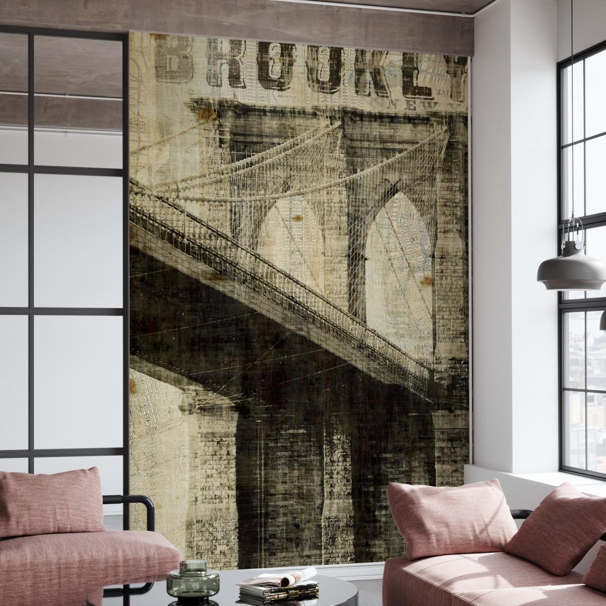 Fototapet Vintage New York Brooklyn Bridge 1, personalizat, Photowall