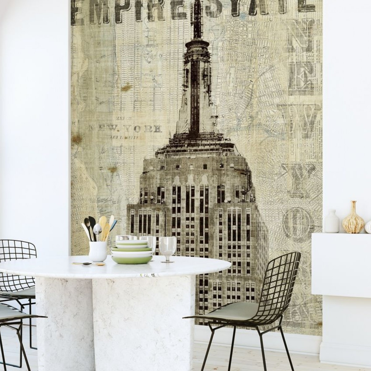 Fototapet Vintage New York Empire State, personalizat, Photowall