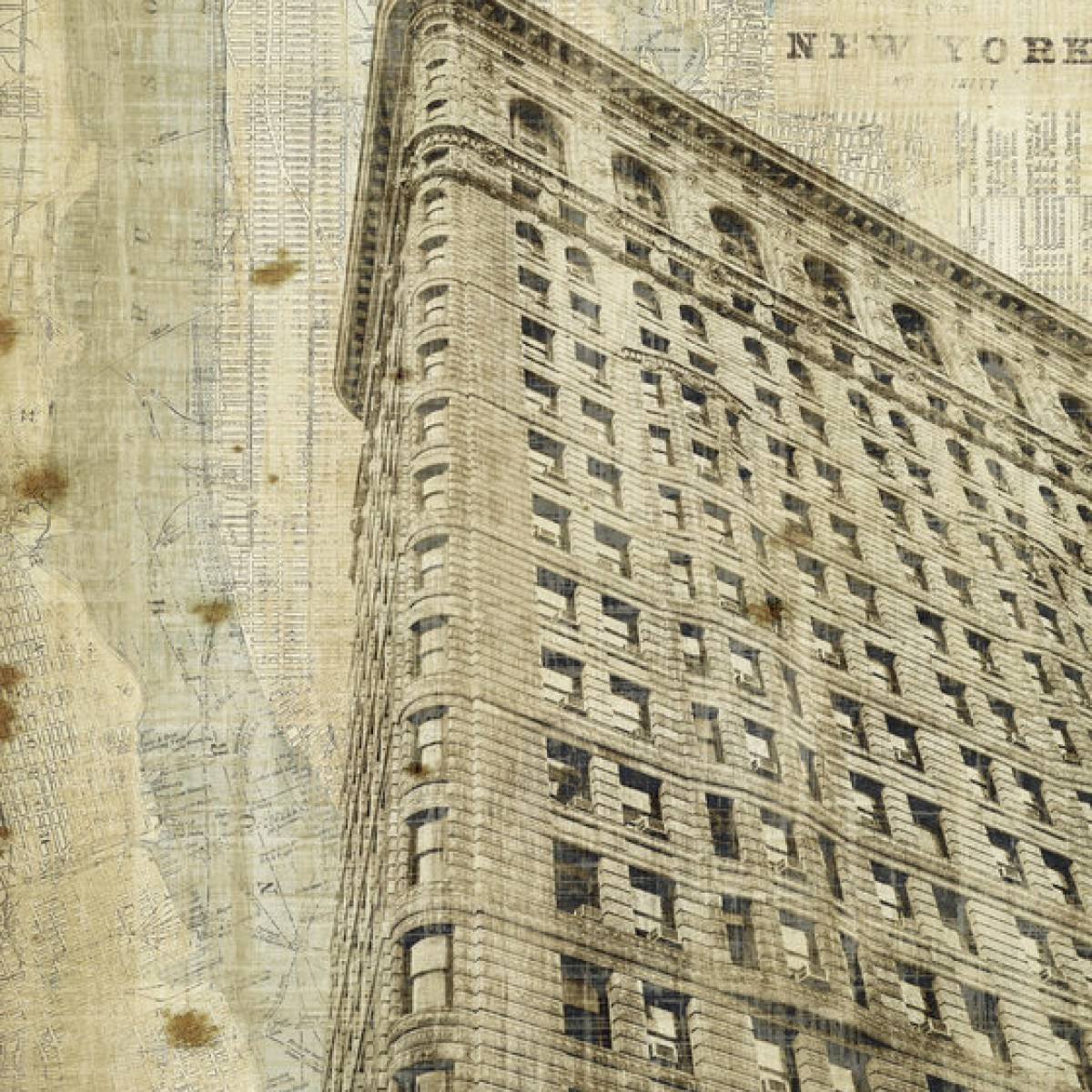 Fototapet Vintage New York Flat Iron, personalizat, Photowall