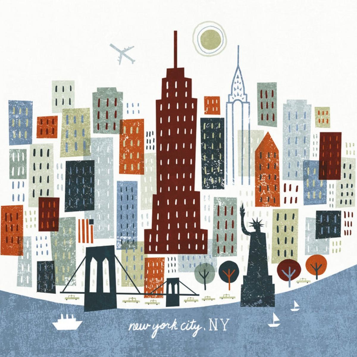 Fototapet Colorful New York, personalizat, Photowall