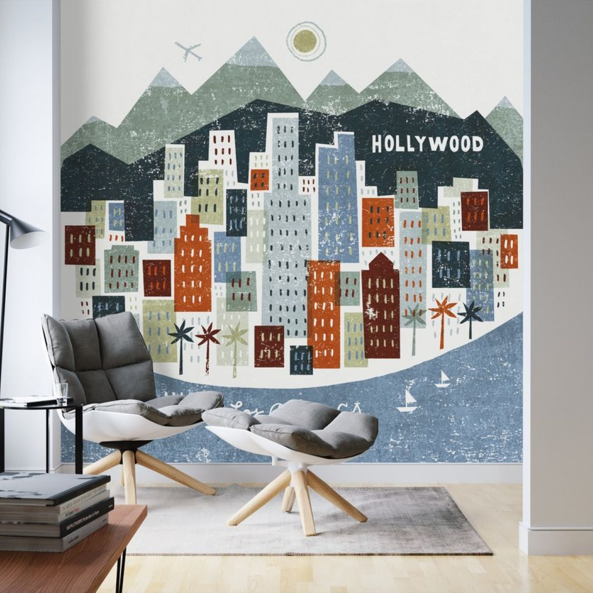 Fototapet Colorful Los Angeles, personalizat, Photowall