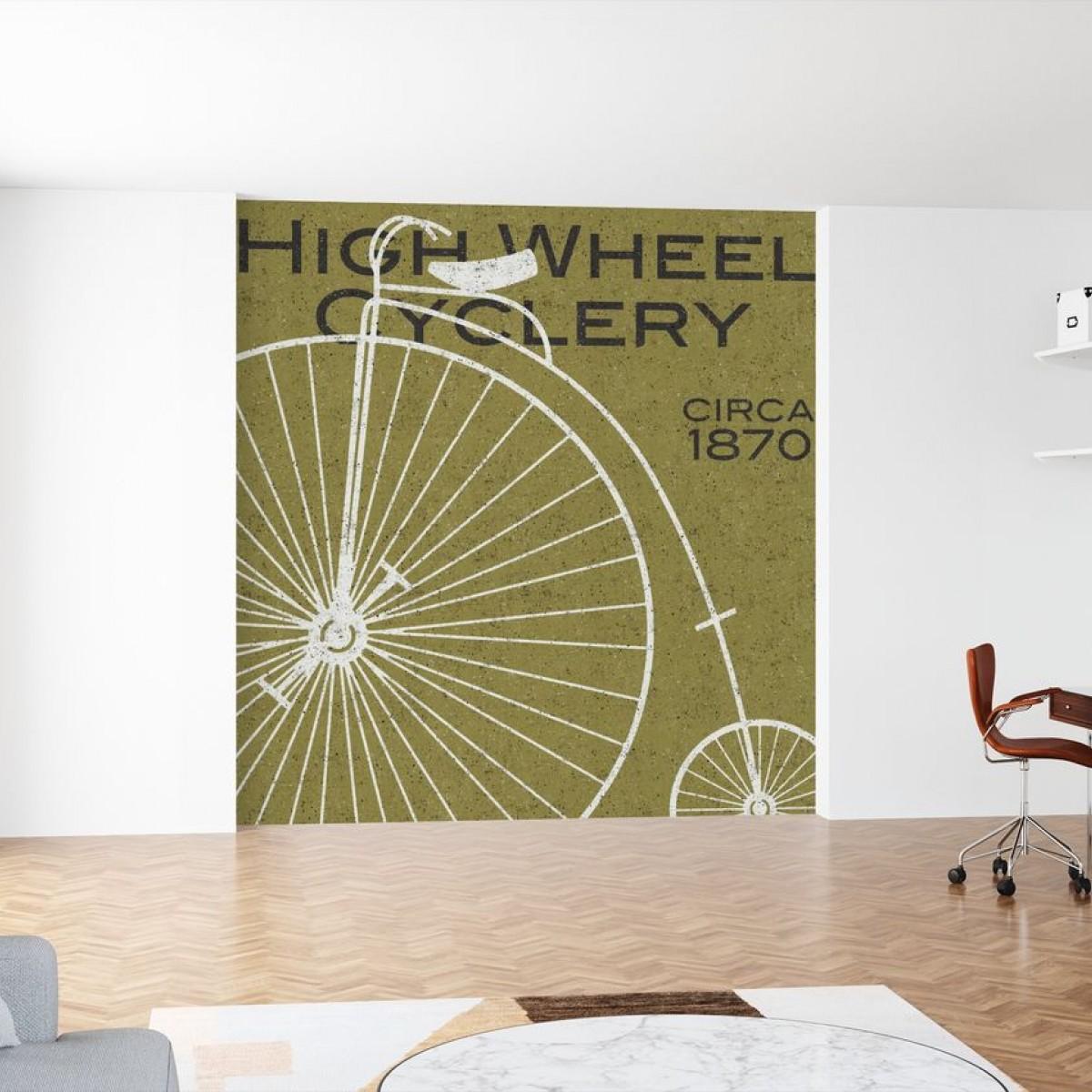 Fototapet High Wheel Cyclery, personalizat, Photowall