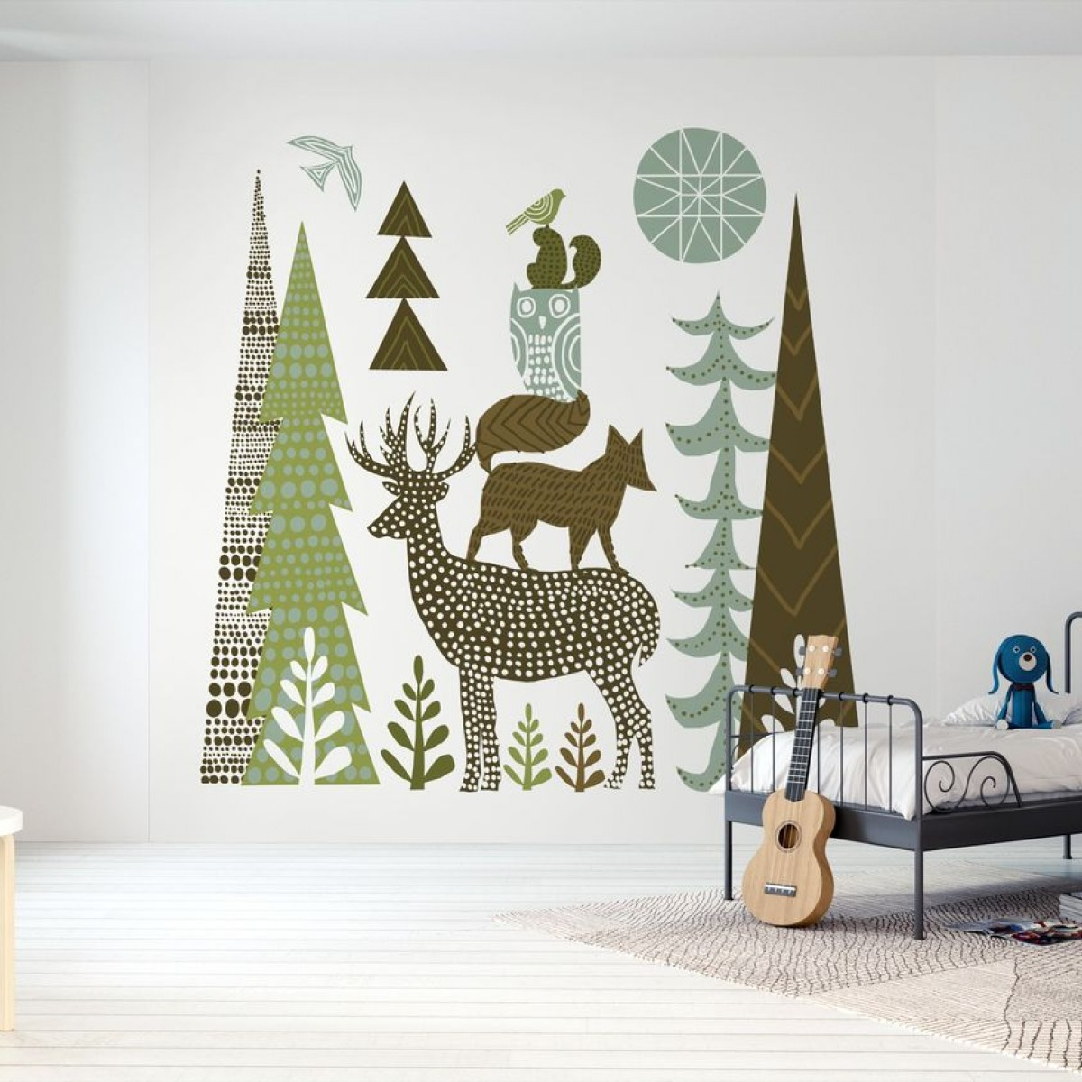 Fototapet Forest Folklore Green Animals 1, personalizat, Photowall