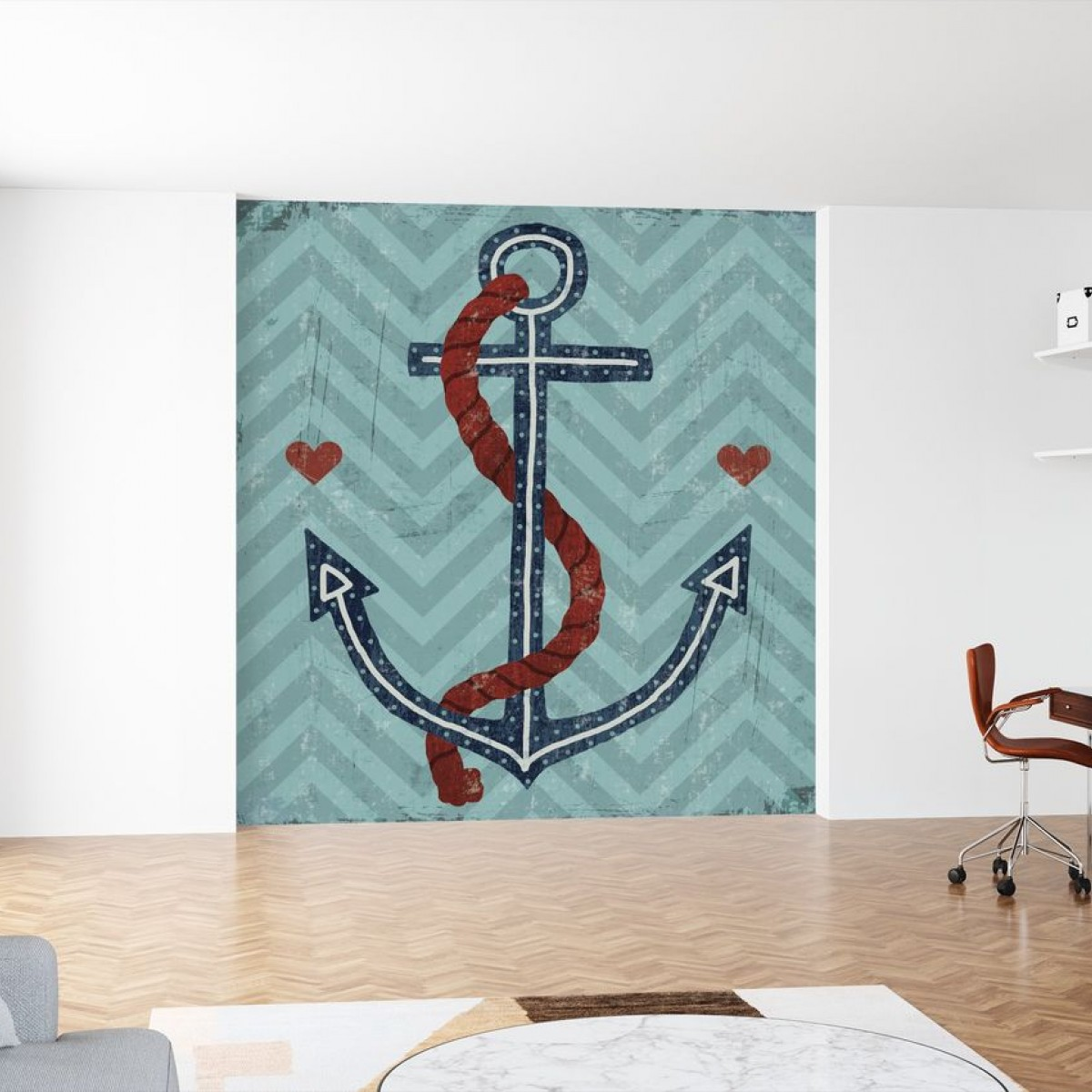 Fototapet Nautical Love Anchor, personalizat, Photowall