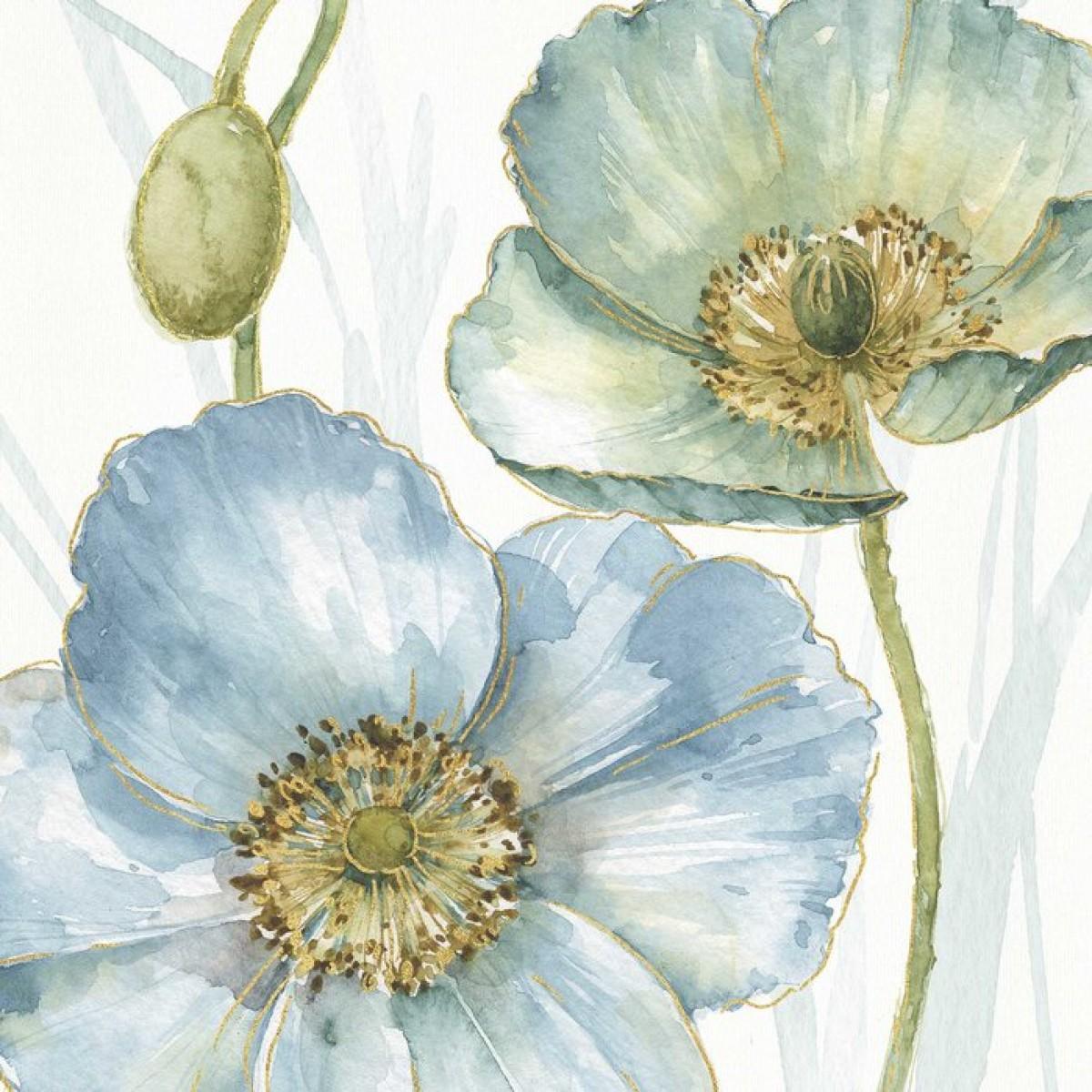 Fototapet Blue Mountain Poppy, personalizat, Photowall