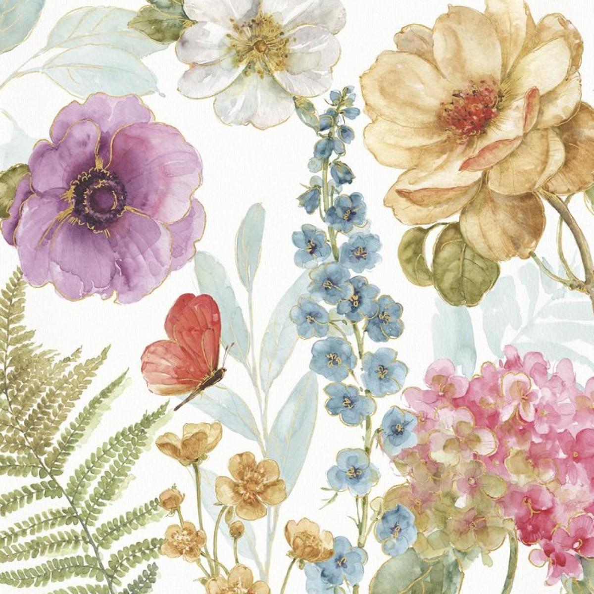 Fototapet Rainbow Seeds Flowers 3, personalizat, Photowall