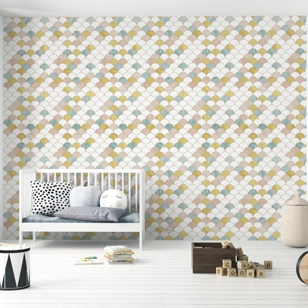 Fototapet Feathers Yellow, personalizat, Photowall