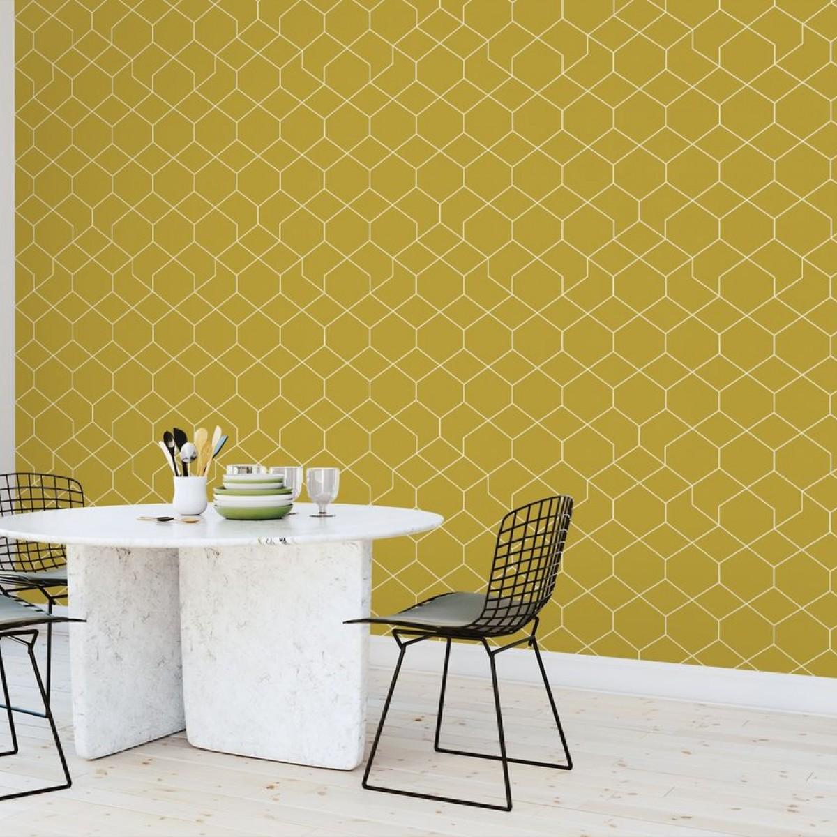 Fototapet Honeycomb Yellow, personalizat, Photowall