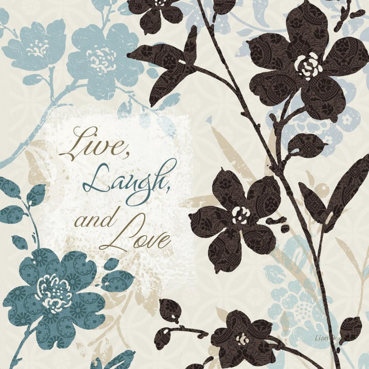 Fototapet Live Laugh And Love, personalizat, Photowall