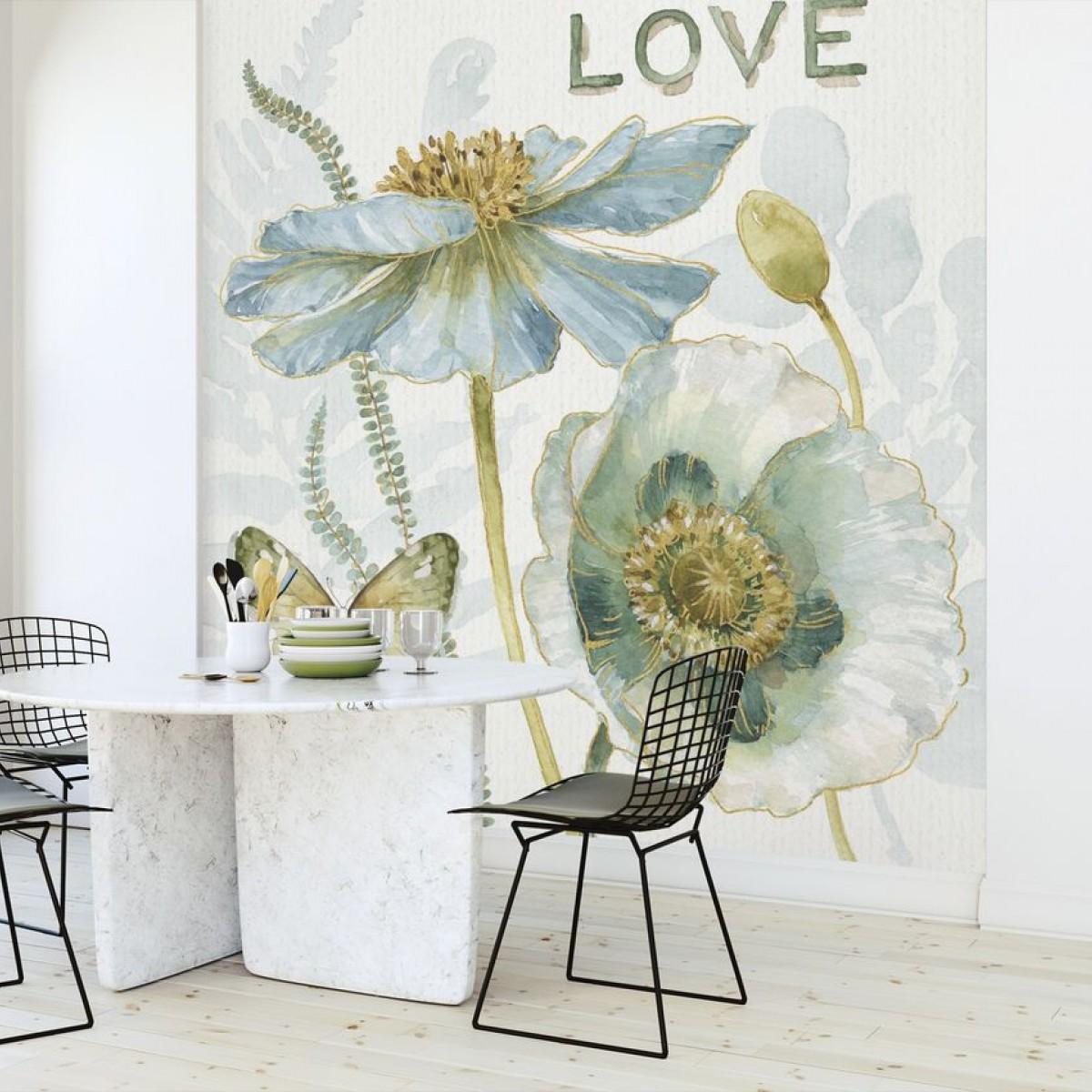 Fototapet My Greenhouse Flowers, Love, personalizat, Photowall