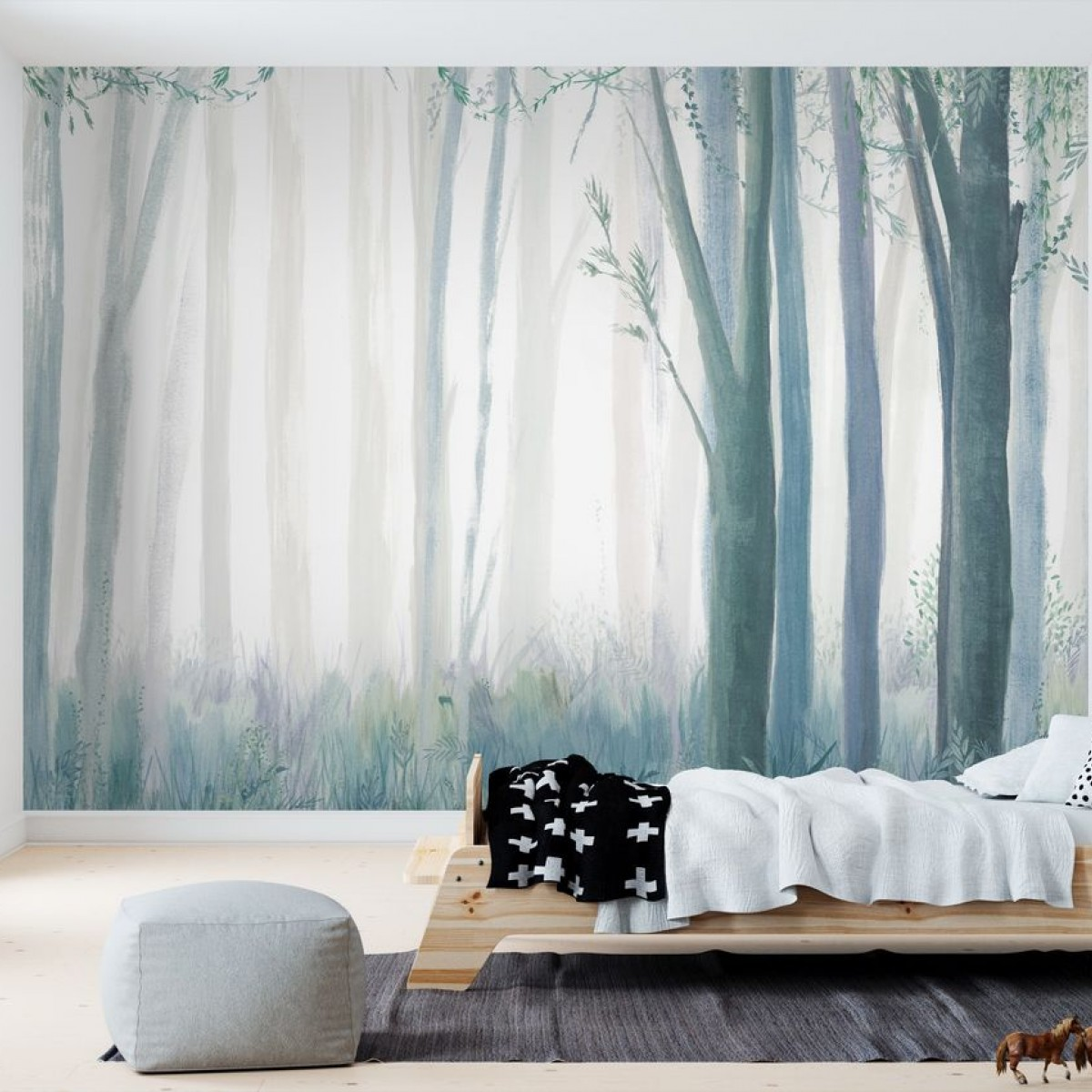 Fototapet Blue Trees, personalizat, Photowall