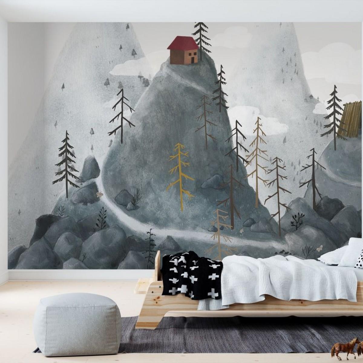 Fototapet Village Fantasy Mountains, personalizat, Photowall