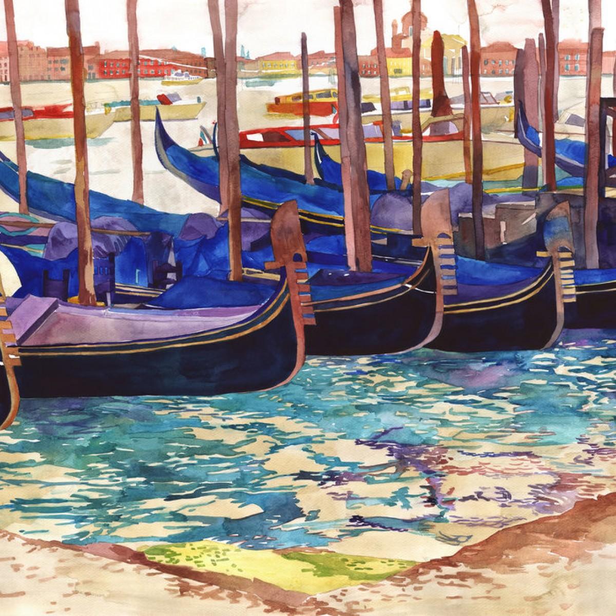 Fototapet Gondolas in Venice, personalizat, Photowall