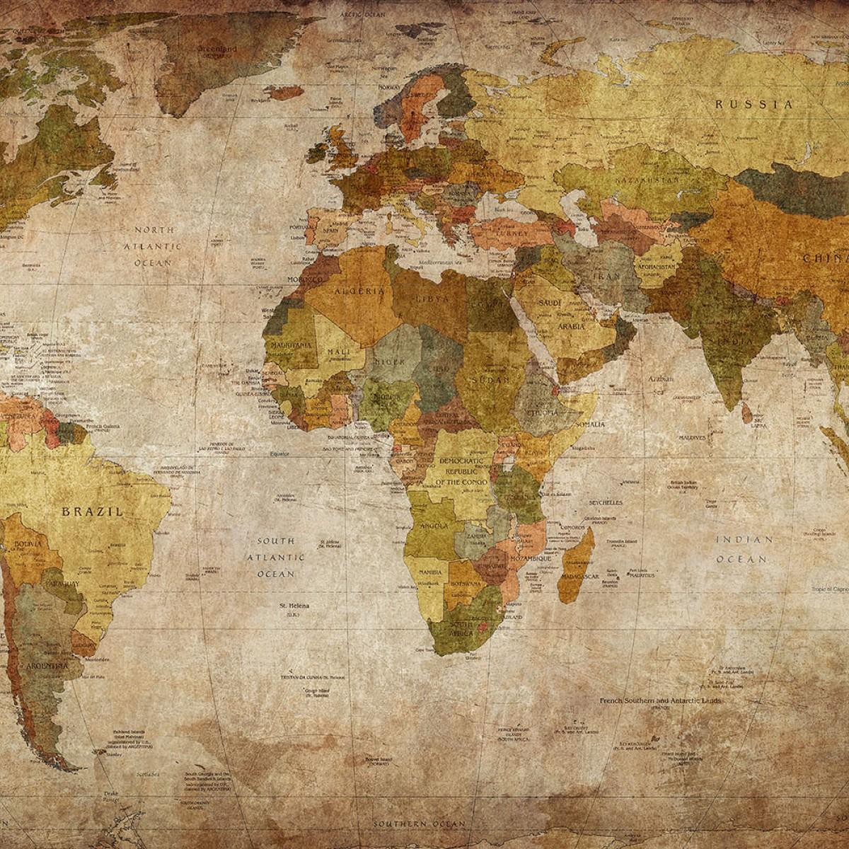 Fototapet Harta lumii, personalizat, Rebel Walls