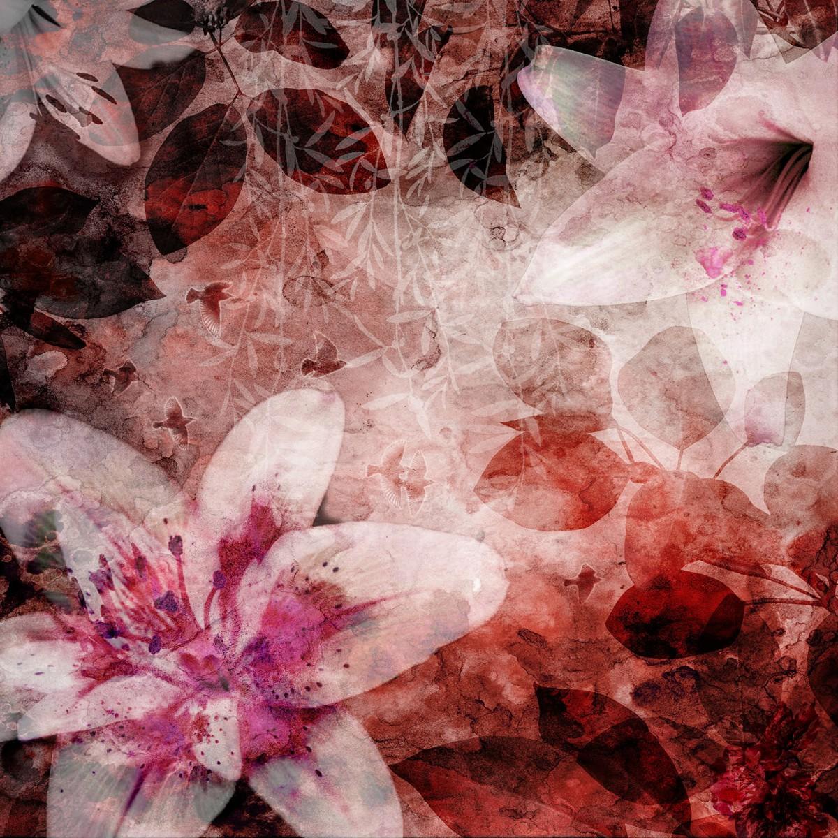 Fototapet Garden of Dreams rosu, personalizat, Rebel Walls
