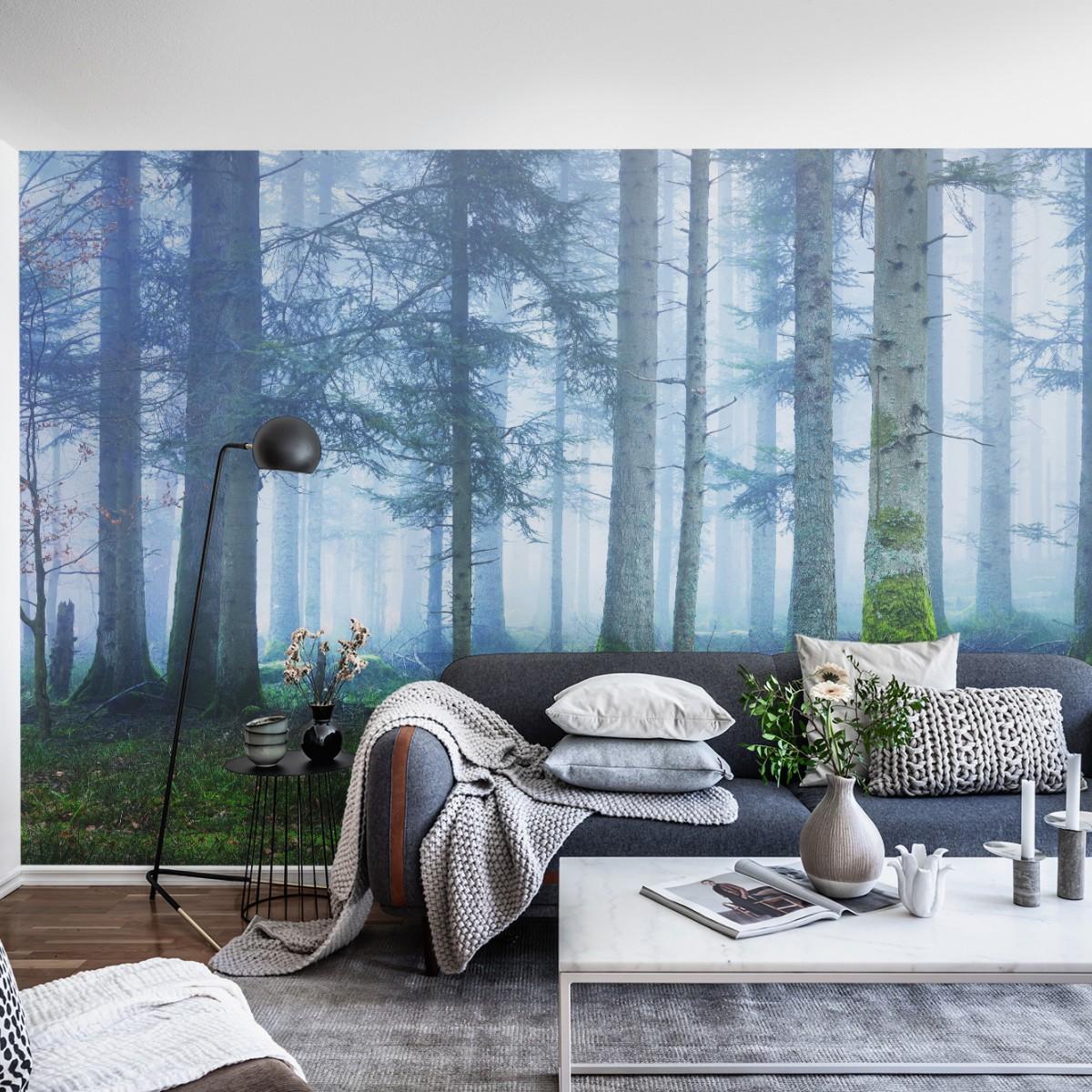 Fototapet Blue Forest, personalizat, Rebel Walls