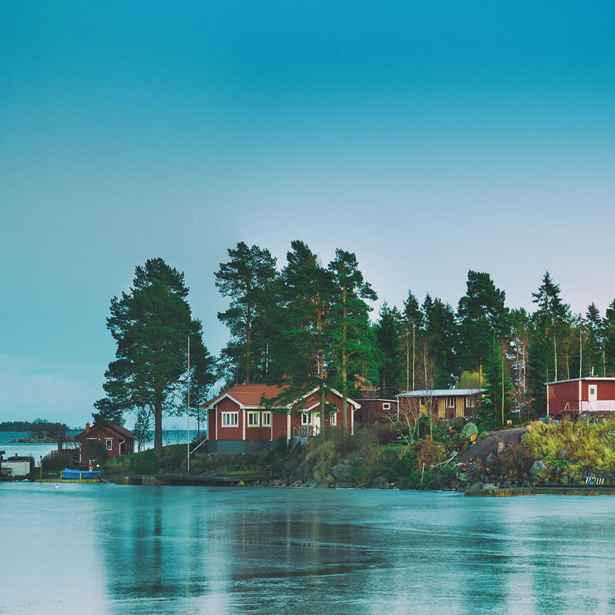 Fototapet Cottage Island, personalizat, Rebel Walls