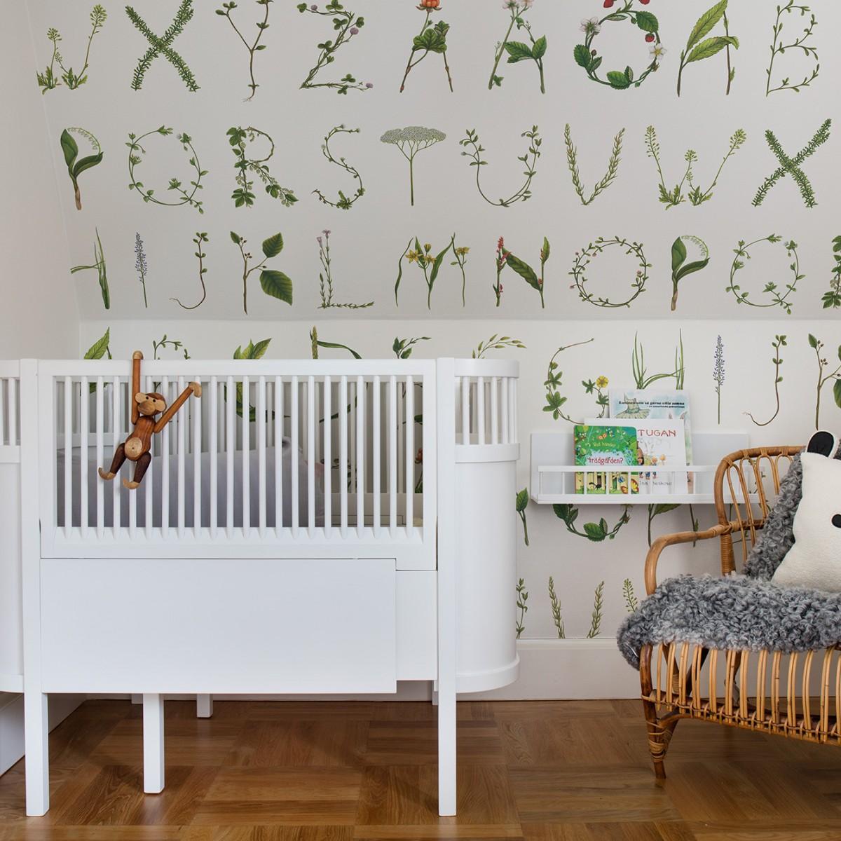 Foto tapet Floral Alphabet, personalizat, Rebel Walls