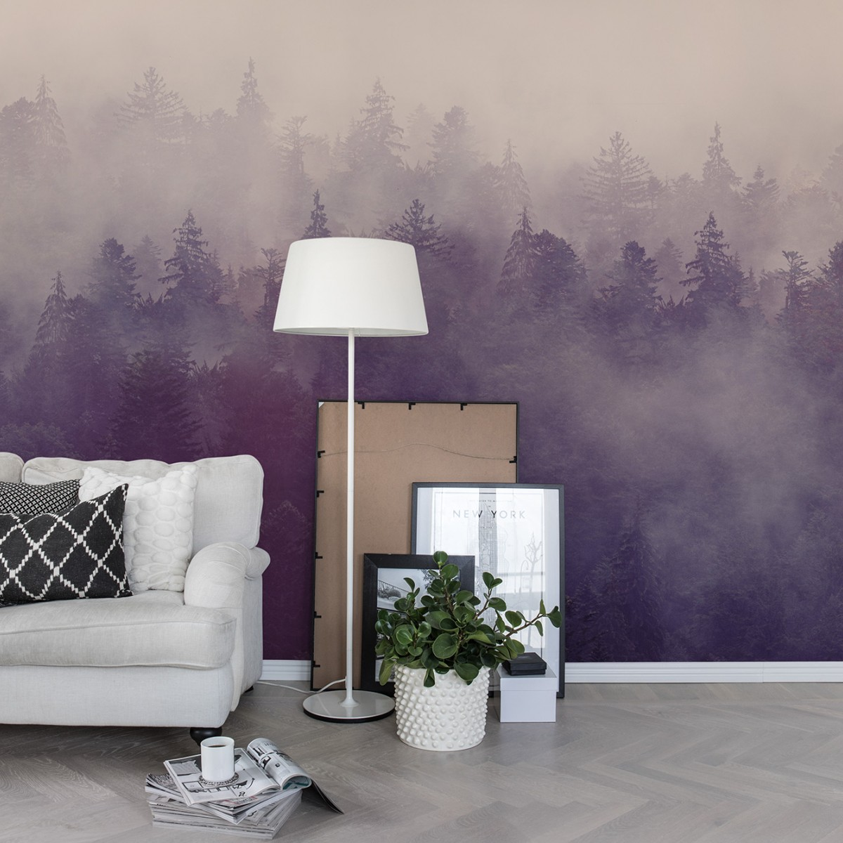 Foto tapet Fir Forest, personalizat, Rebel Walls