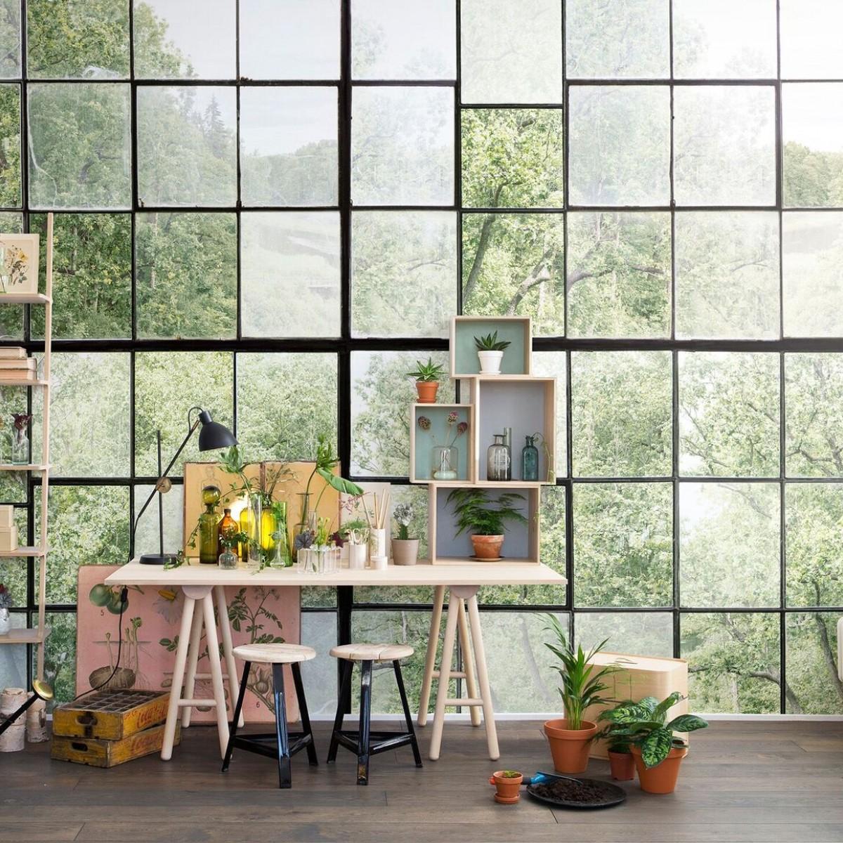 Fototapet Factory Window, personalizat, Rebel Walls