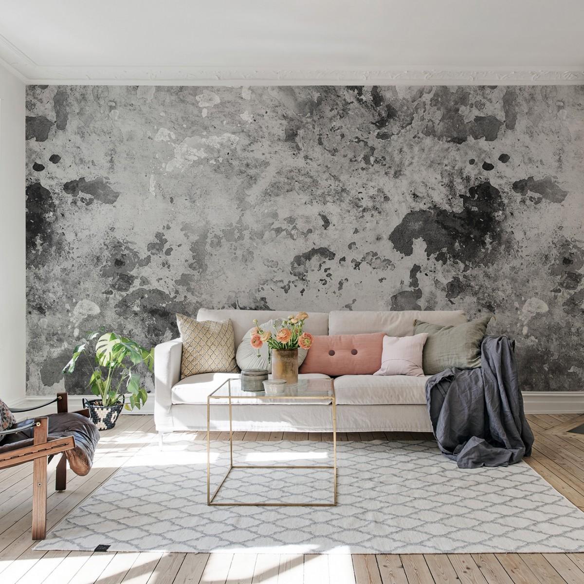 Fototapet Fragments, Charcoal, personalizat, Rebel Walls