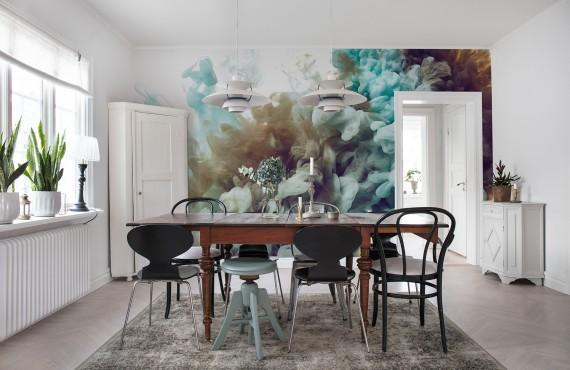 Foto tapet 3D Fum, personalizat, Rebel Walls