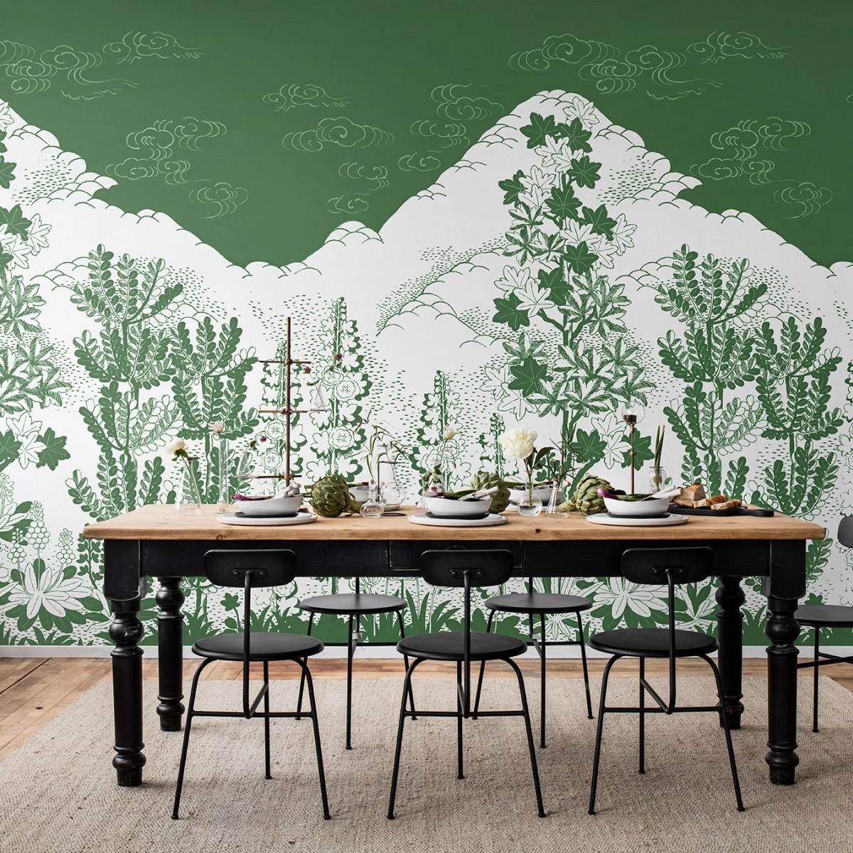Foto tapet Eden, Green, personalizat, Rebel Walls