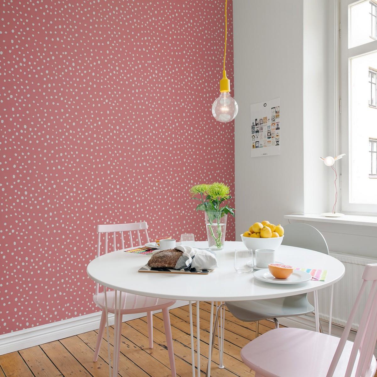 Foto tapet Rebel Dot, Peach, personalizat, Rebel Walls
