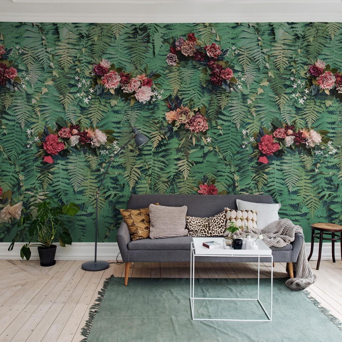 Foto tapet Unfading Flowers, personalizat, Rebel Walls