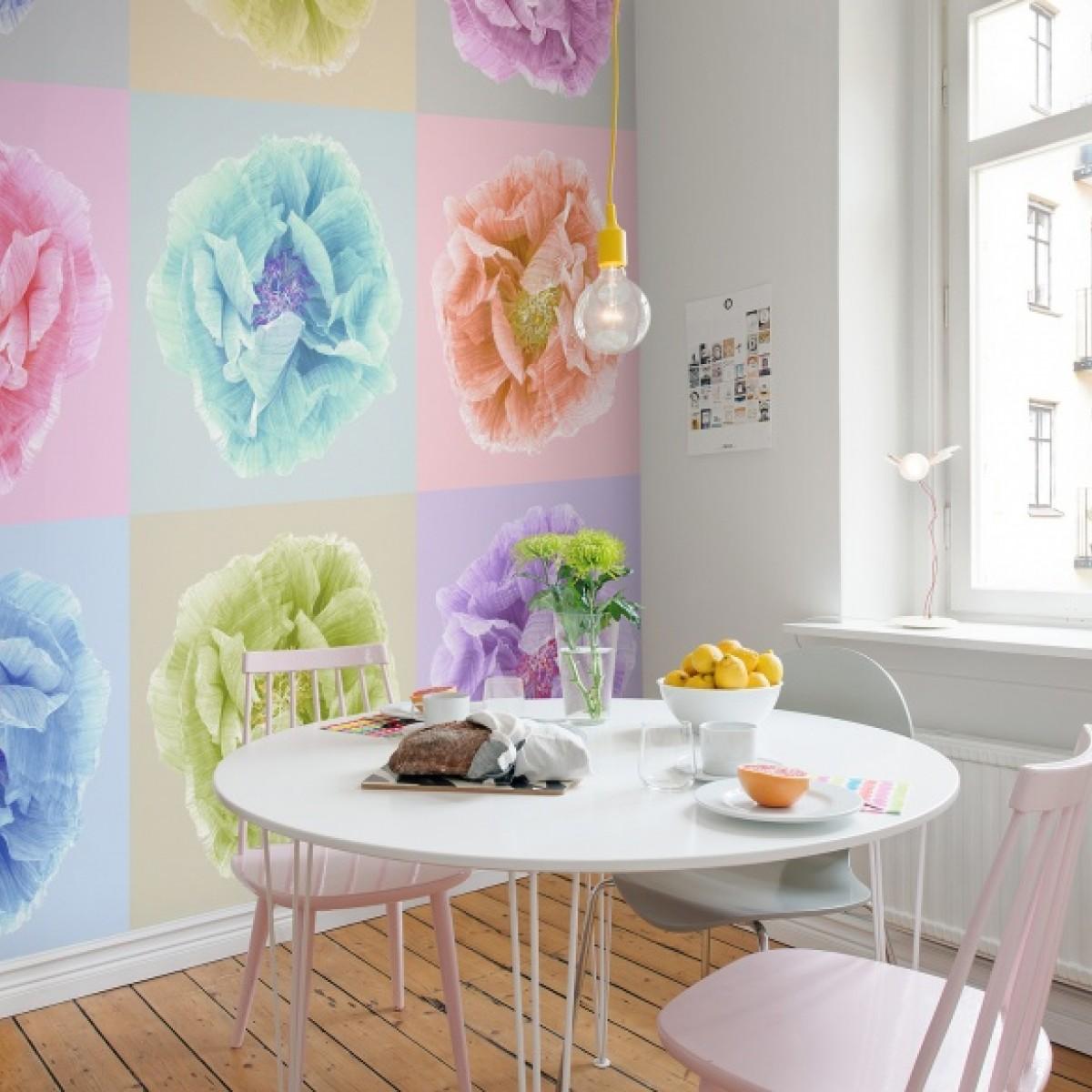 Fototapet Poppy art, Andy, personalizat, Rebel Walls