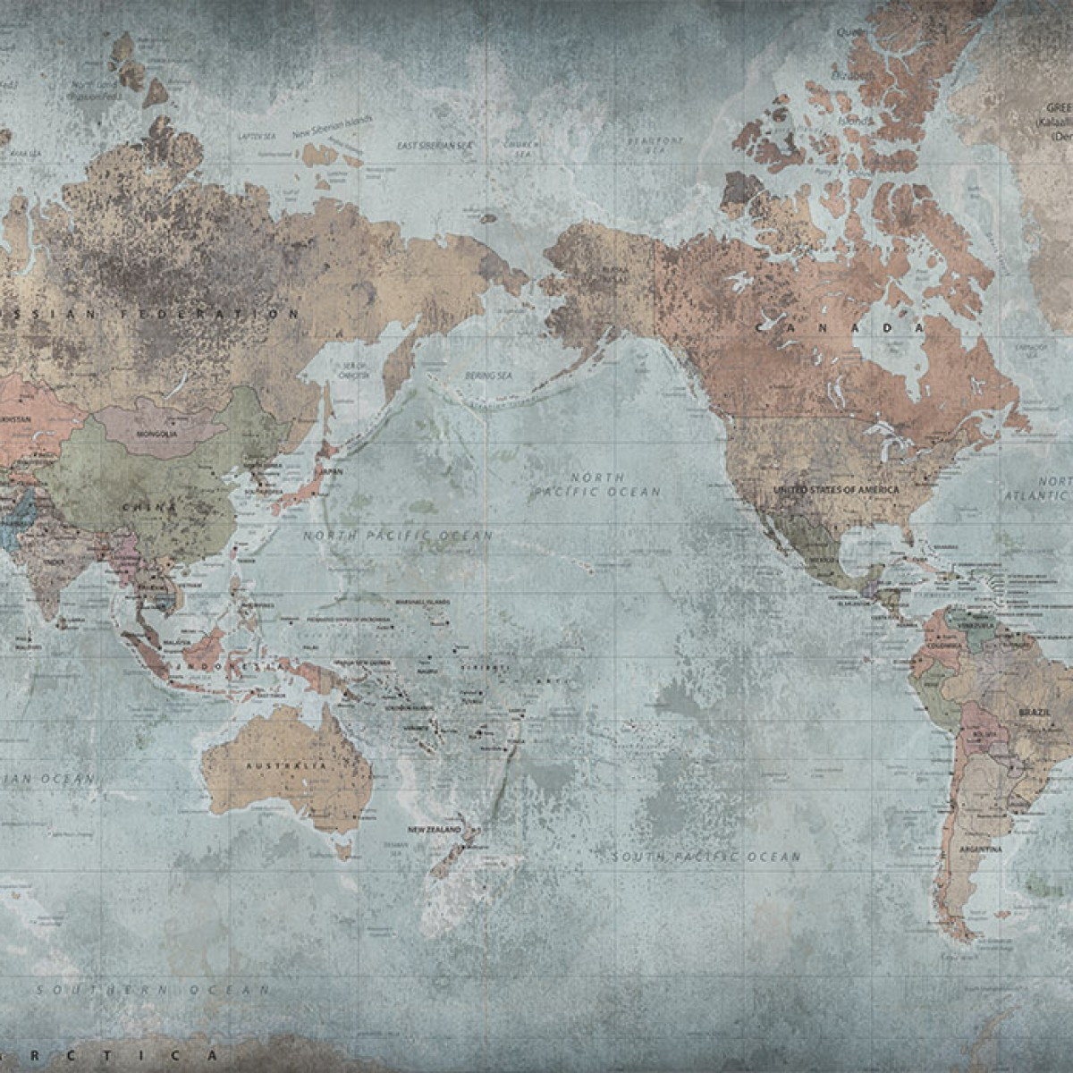 Fototape Around The World, personalizat, Rebel Walls