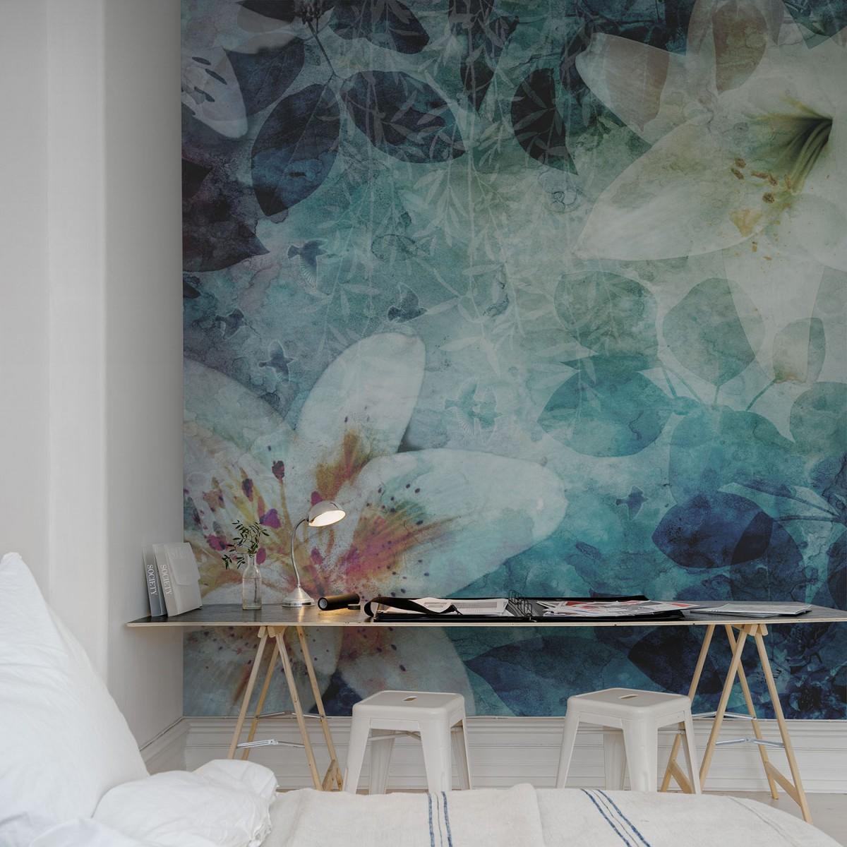 Fototapet Garden of Dreams albastru, personalizat, Rebel Walls