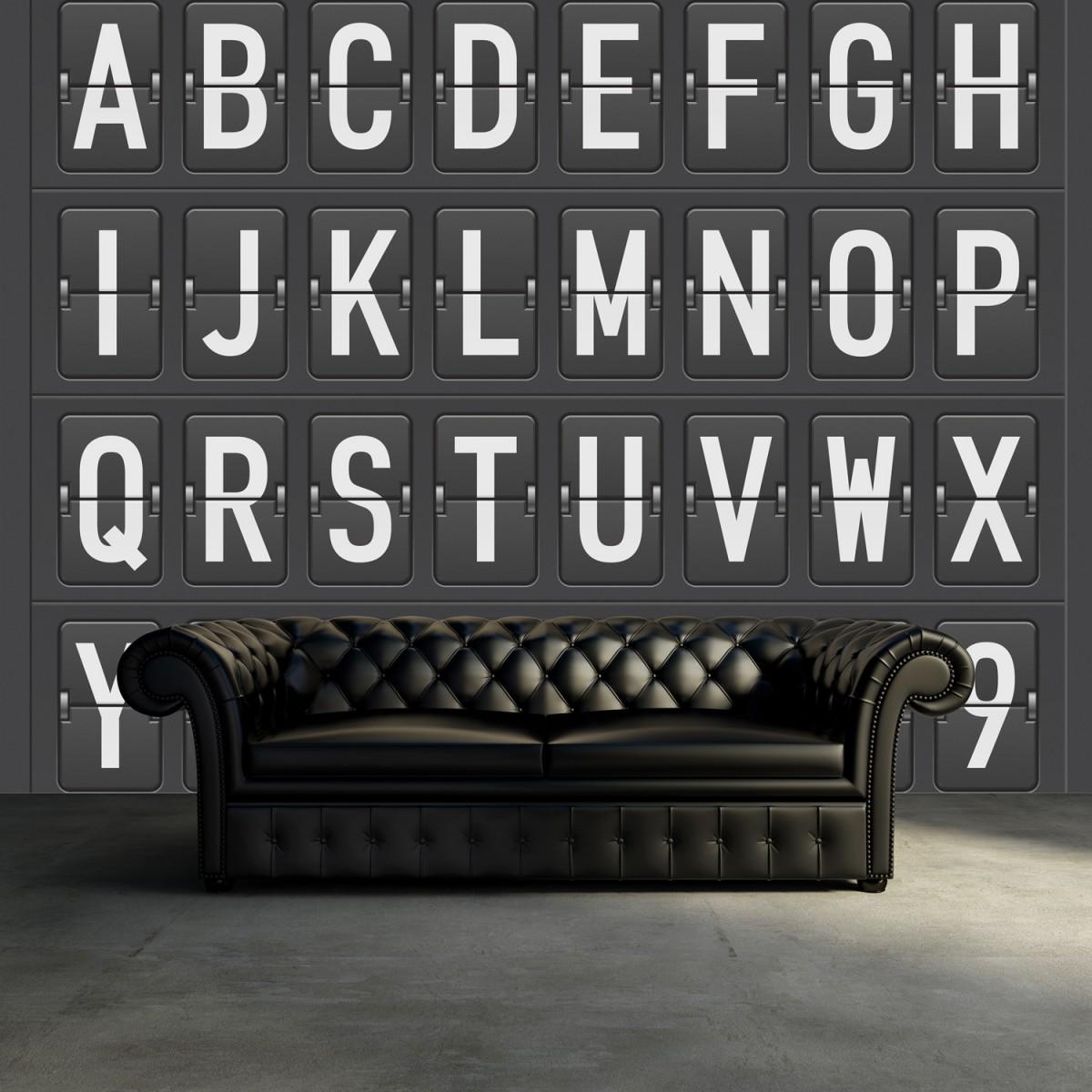 Fototapet Departure Alphabet, personalizat, Rebel Walls