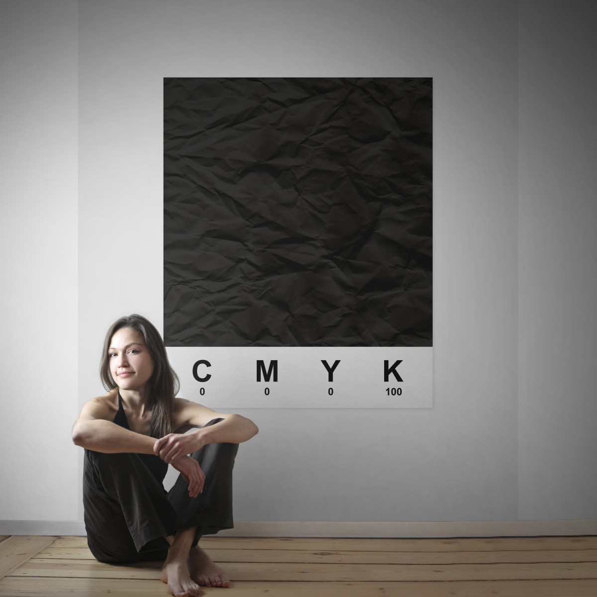 Fototapet CMYK Black, personalizat, Rebel Walls