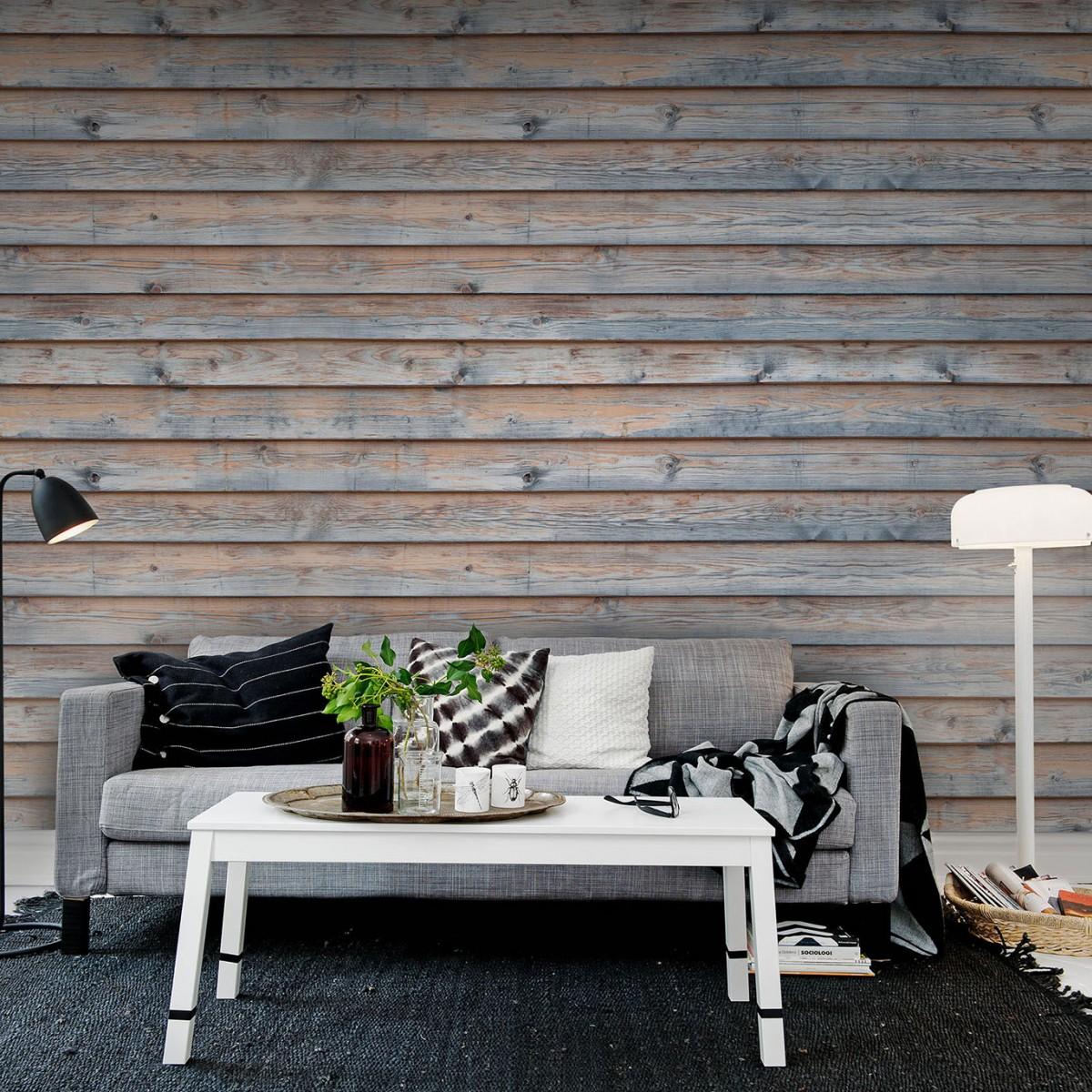 Fototapet Horizontal Boards 1, personalizat, Rebel Walls