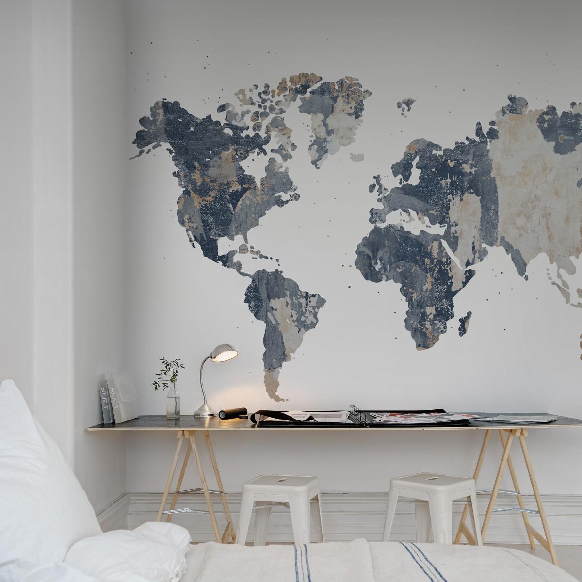 Fototapet Your Own World - Battered Wall, personalizat, Rebel Walls