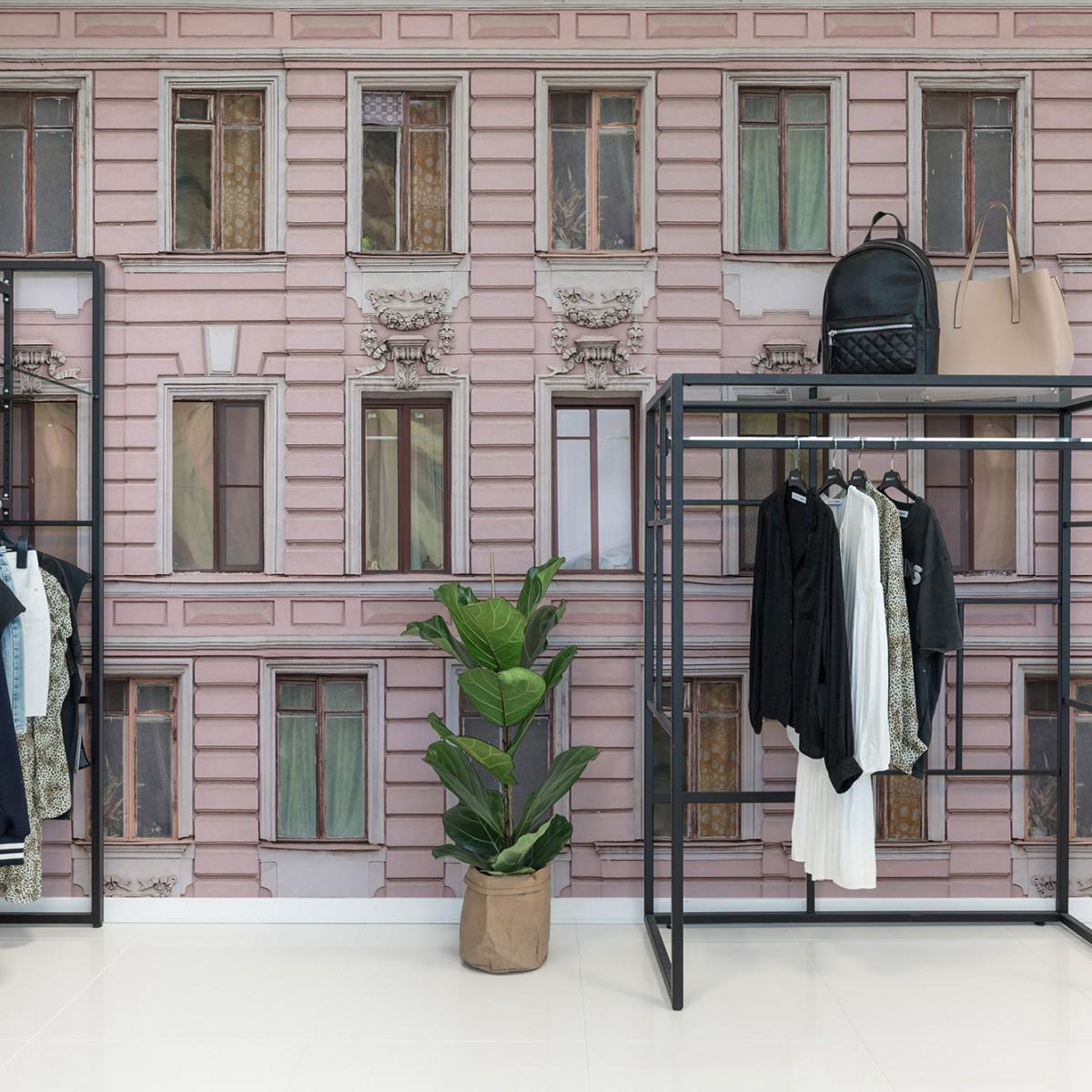 Fototape Pink Facade, personalizat, Rebel Walls