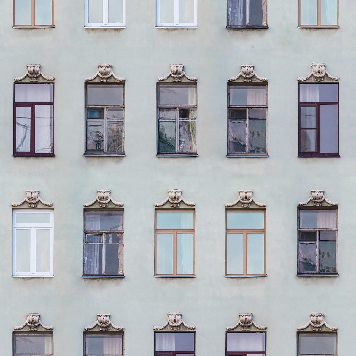 Fototapet Window Row, personalizat, Rebel Walls