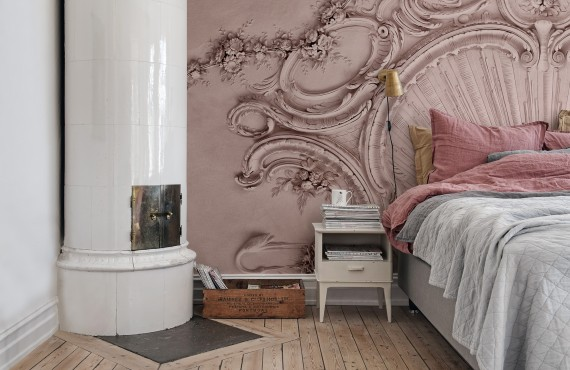Foto tapet 3D Stucco Gloria, Dusty Pink, personalizat, Rebel Walls