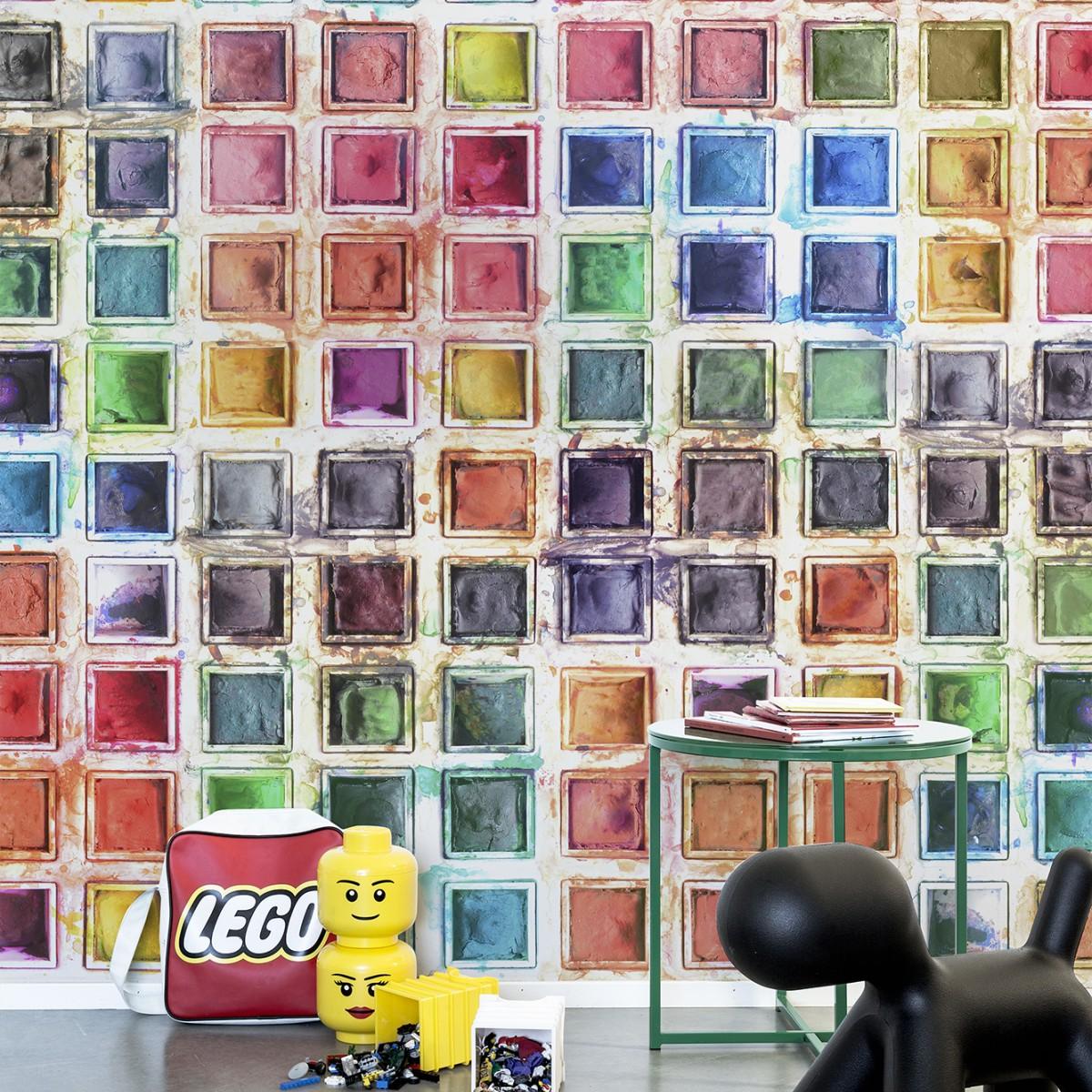 Fototapet Rainbow Palette, personalizat, repetitiv, Rebel Walls