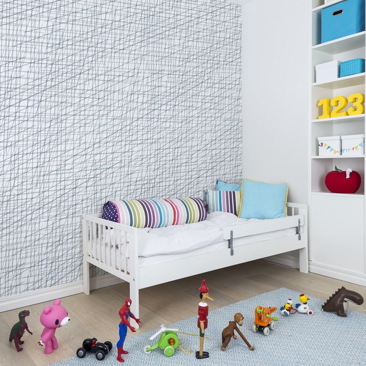 Fototapet Note Sheets Baby Blue, personalizat, repetitiv, Rebel Walls